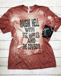 Raisin' Hell Cody Jinks Bleached Acid Washed Tee