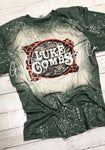 Luke Combs Bleached Acid Washed Graphic Tee