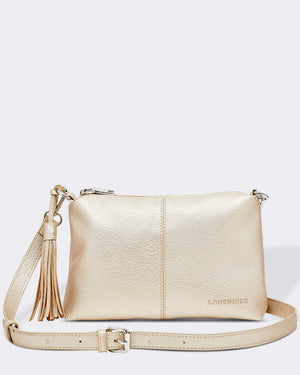 Baby Daisy Cross body Bag Louenhide Gold. PU