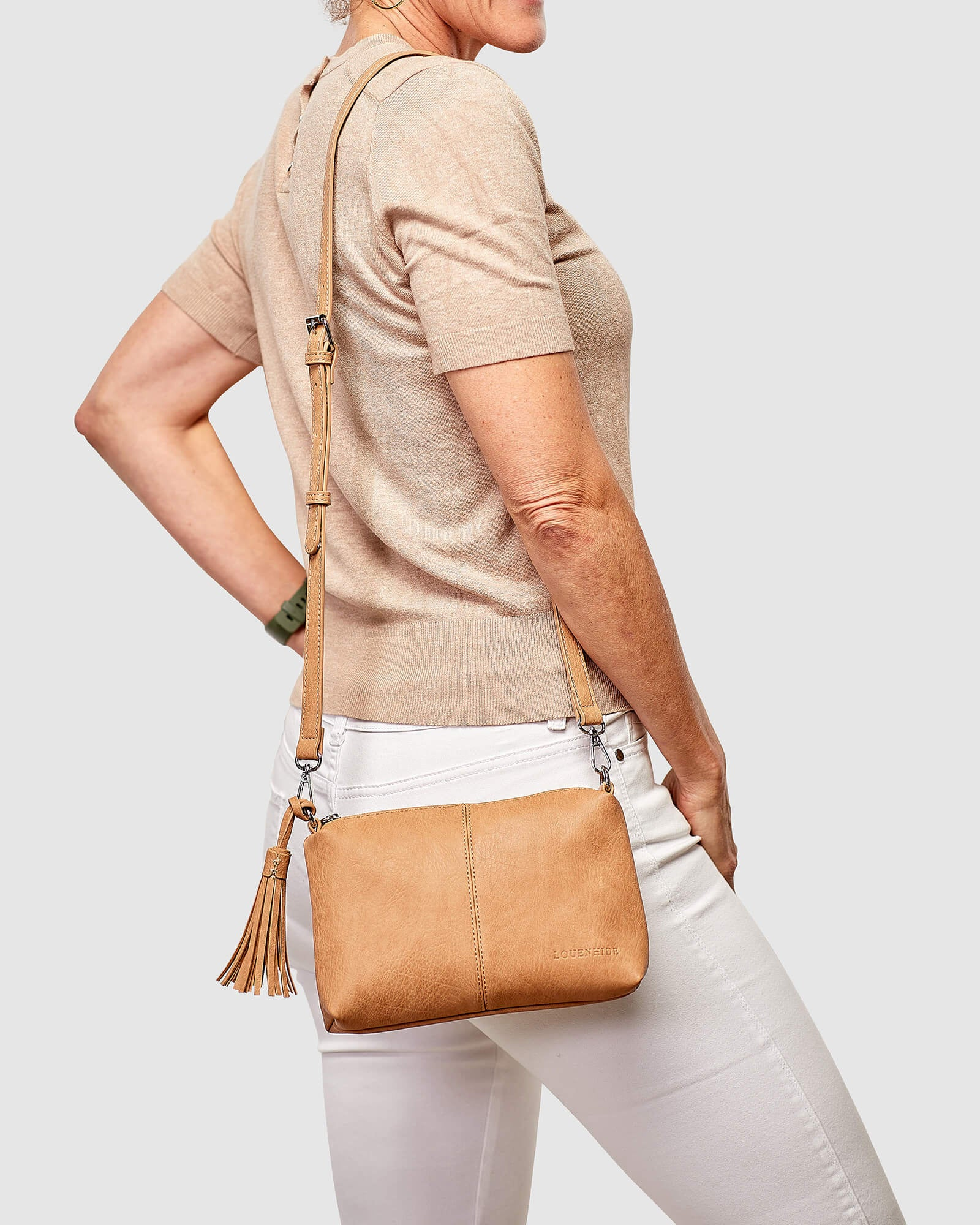 Baby Daisy Cross body Bag Louenhide Camel PU