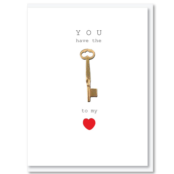 You have the key to my heart Card