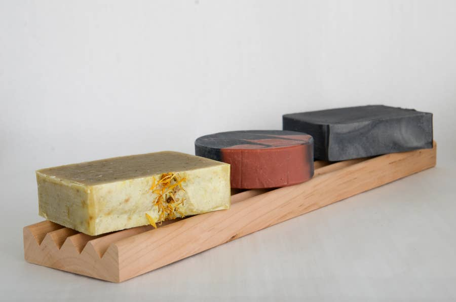Brooklyn Made Natural Extra Long Cherry Soap Dish