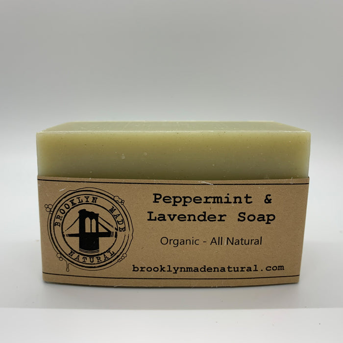 Brooklyn Made Natural Organic Peppermint & Lavender Soap