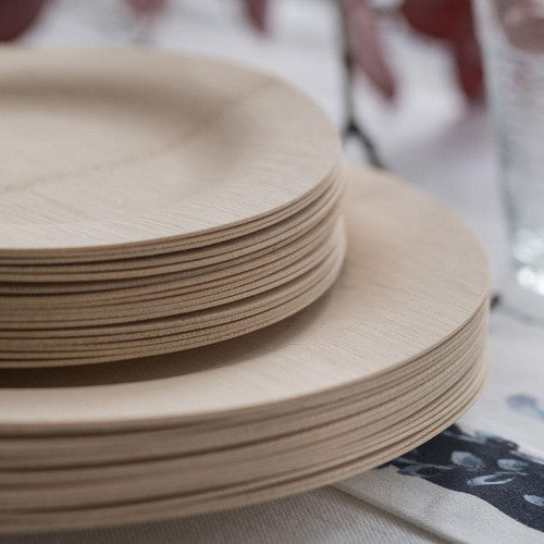 Veneerware® Round Bamboo Plates Size: 7'' Plates - Package Of 8