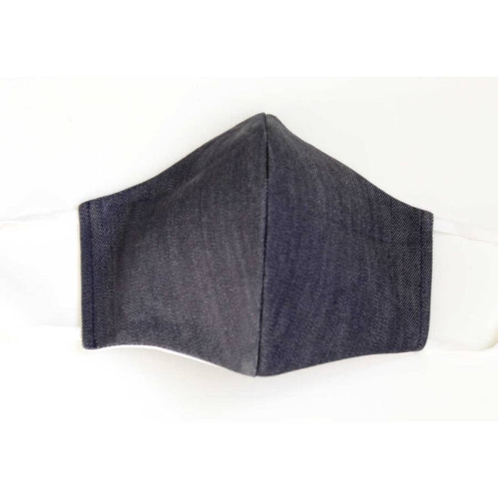 Adult Reusable Face Mask with Filter Pocket: Denim - Includes 10 disposable filters