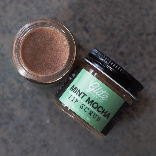 Vegan Natural Lip Scrub - Mint Mocha