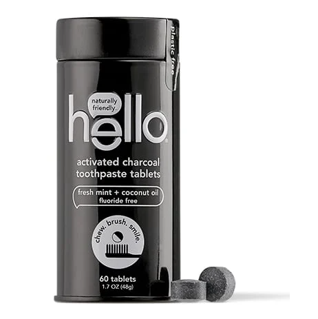 hello® Activated Charcoal Toothpaste Tablets - Fluoride Free