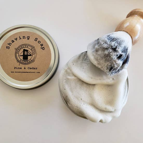 Brooklyn Made Natural Organic Pine & Cedar Shaving Soap