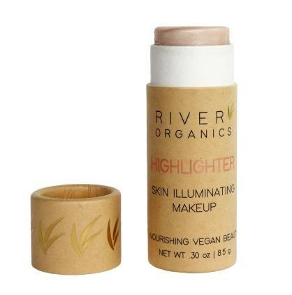 River Organics Vegan Highlighter Makeup Stick in Rose Quartz