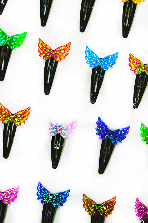 Multicolour Angel Wing Clips (pack of 2)