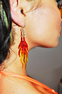 Heatin' Up Flame Earrings