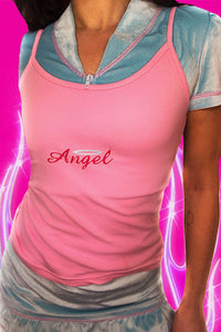 Charlie's Angel Light Pink Cami Top