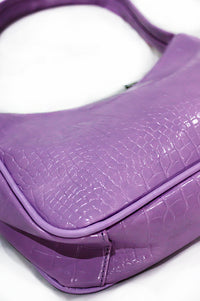 The Purple Croc Lizzie Shoulder Bag