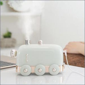 300ml Ultrasonic Humidifier Retro Mini Train USB Aroma Air Diffuser Essential Oil Mist Maker Fogger With Color LED Light lcbenshop