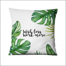 Tropical Palm Leaf Printed Pillowcase Green Leaves Thin Linen Cushion Decorative Pillows Home Decor Sofa Throw Pillow 45*45cm lcbenshop