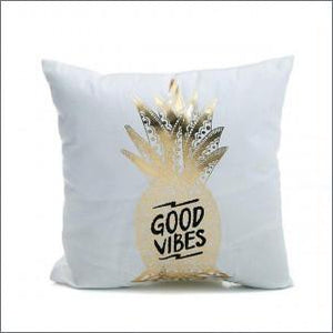 45*45cm Super Soft Pineapple Love Letters Bronzing Hot Silver Pillow Sets Of Cotton And Linen Car Sofa Cushions Pillow lcbenshop