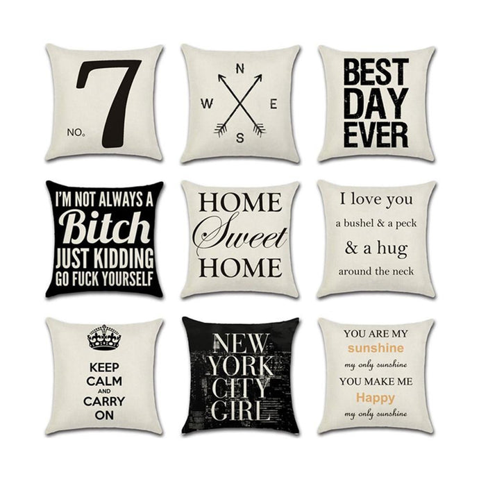Pillow Cover Pillow Case Sofa Throw Cushion Cover Home Decor Throw Pillowcase lcbenshop