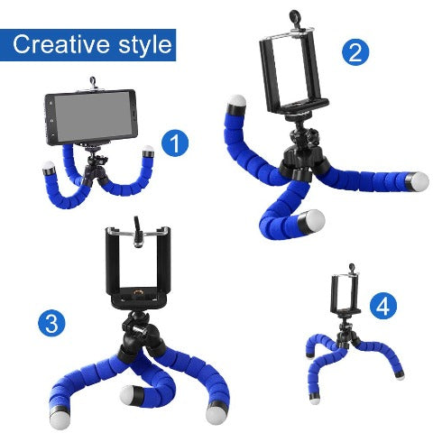 """6.5"""" Flexible Tripod With Universal Mount For All Smartphones Flexible Octopus Tripod"""