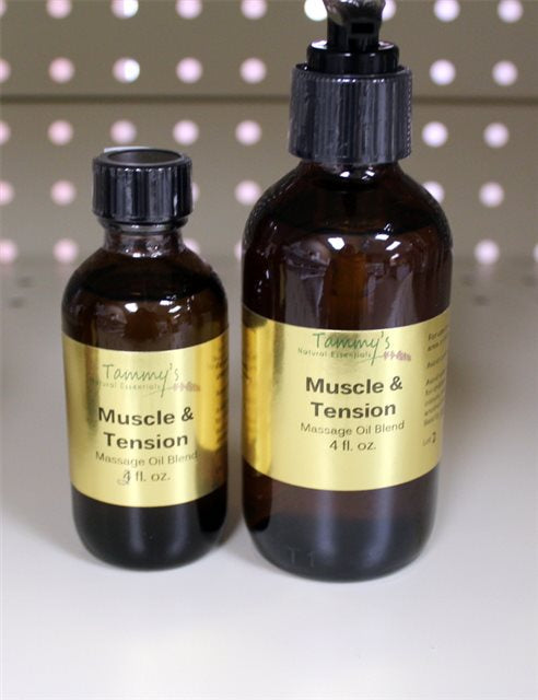 MUSCLE TENSION MASSAGE/BATH OIL