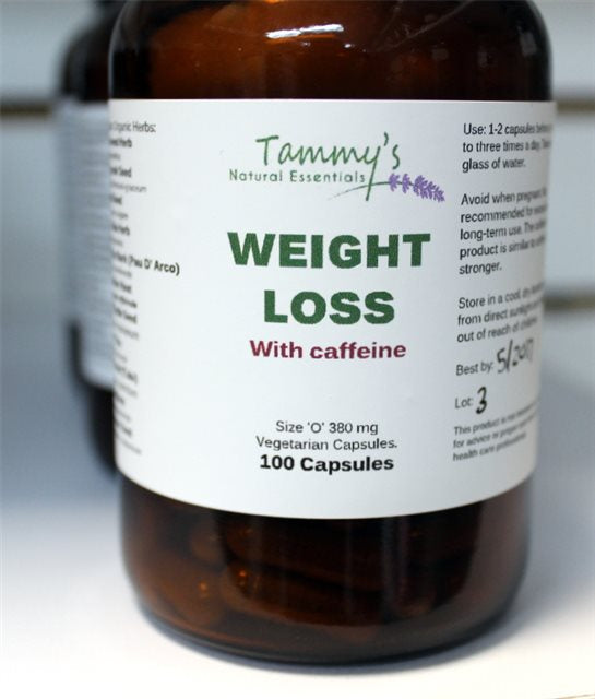 WEIGHT LOSS (W/ CAFFEINE) HERBAL CAPSULES