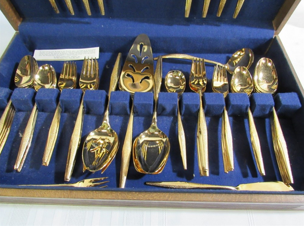 FLORENTINE GOLD FLATWARE SET