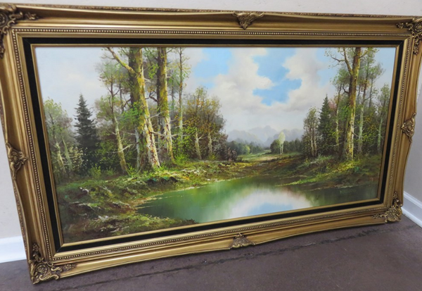 W. LANDSBERG Original Oil Painting