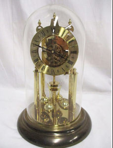 VINTAGE ELGIN MECHANICAL GLASS DOME CLOCK