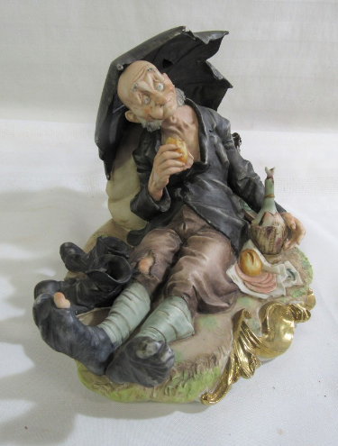 LARGE GIUSEPPE CAPPE CAPODIMONTE - TRAMP AND GAMP - BARBONE