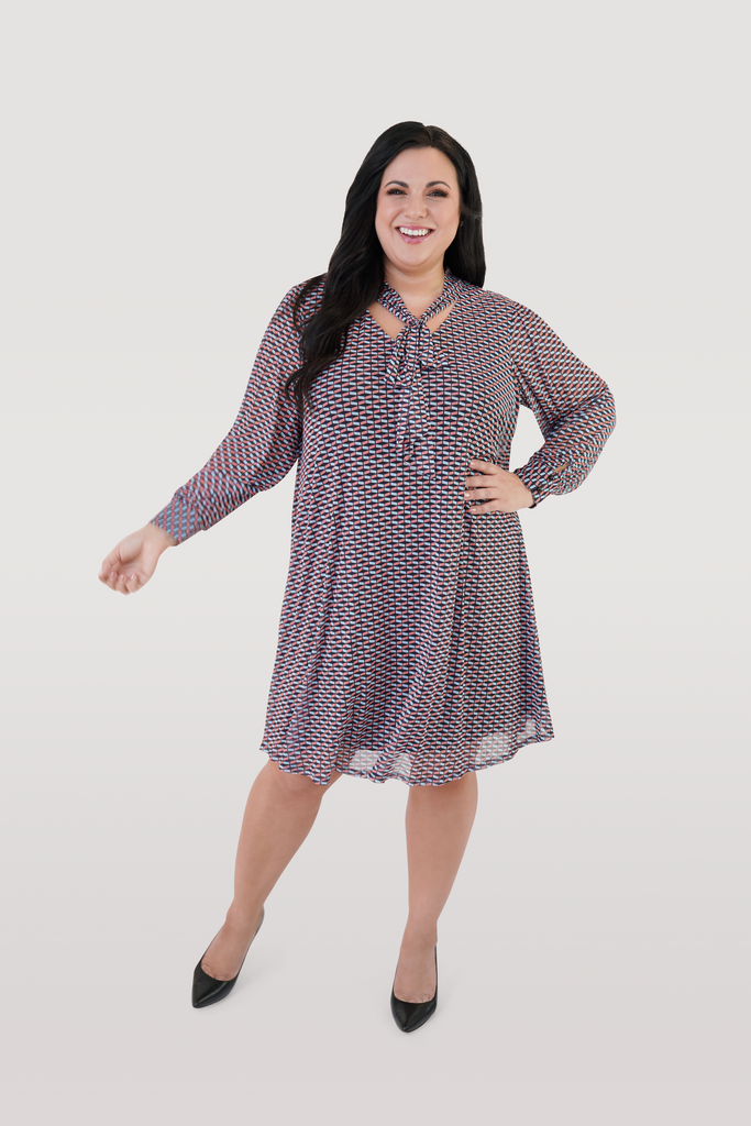Long Sleeve Trapeze Dress