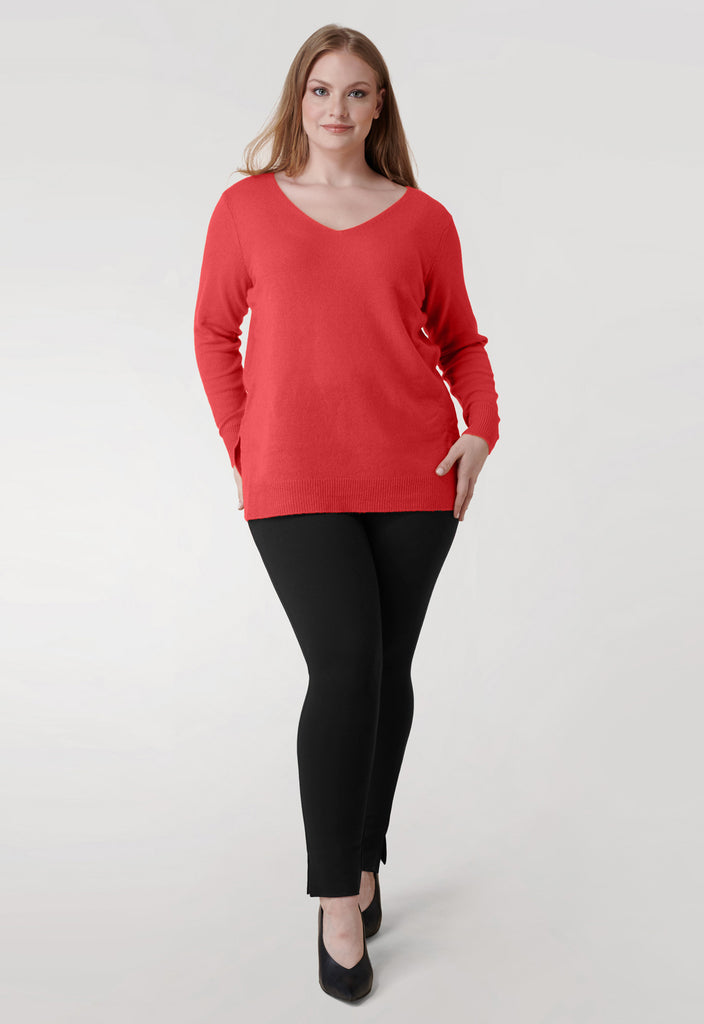 The Coral V Neck Cashmere Blend Sweater - **Additional 20% off with discount code Winter20**