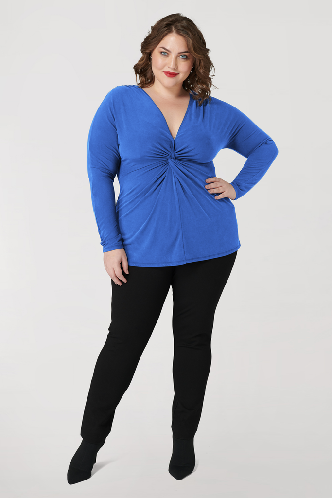 Blue Knot Top - **30% off with discount code Winter30**