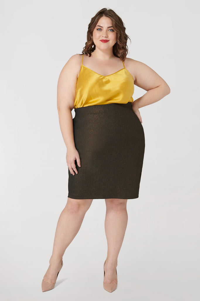 Foiled Scuba Skirt - **Additional 30% off with discount code Winter30**