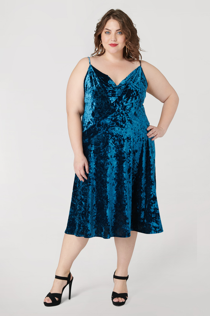 The Teal Velvet Dress - **Additional 30% off with discount code Winter30**
