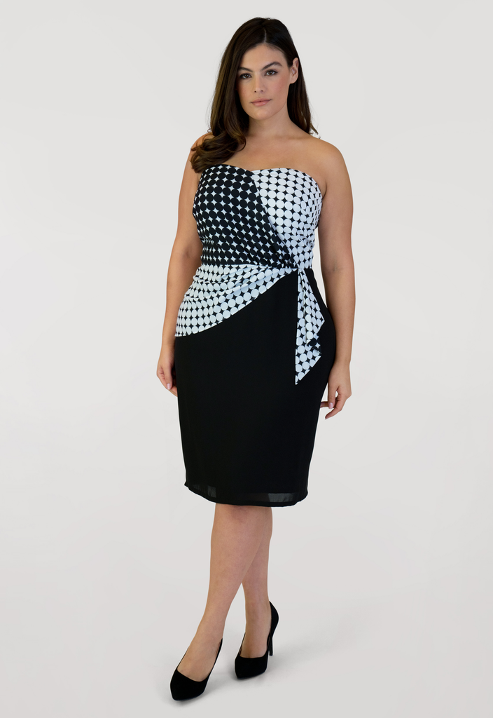 Polka Dot Bustier Dress