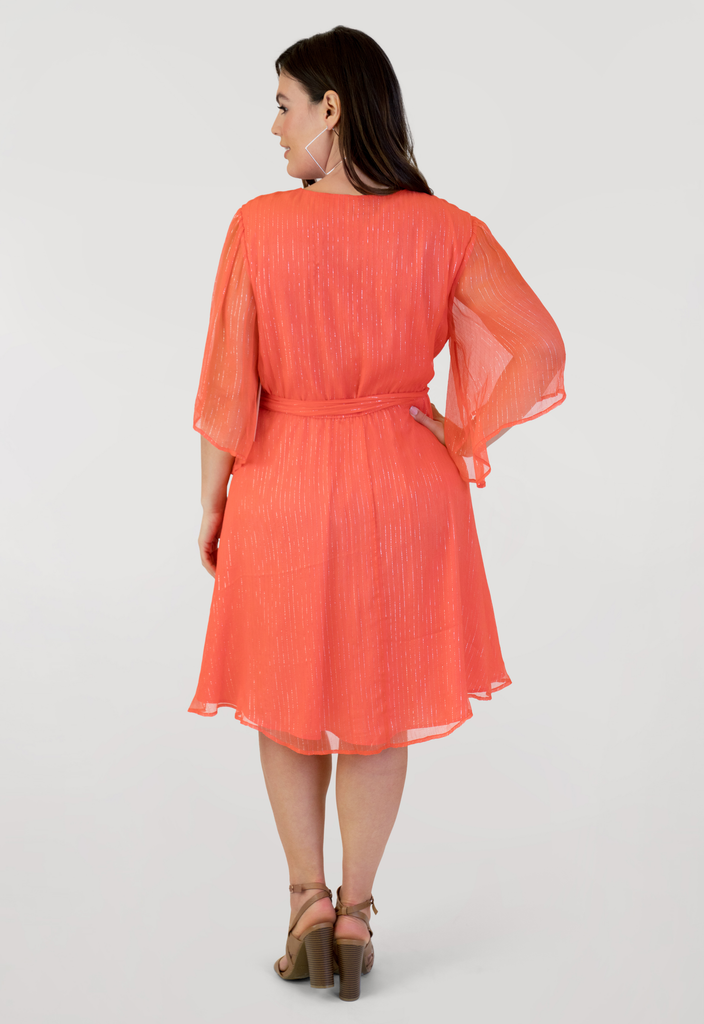 Nectarine Wrap Dress