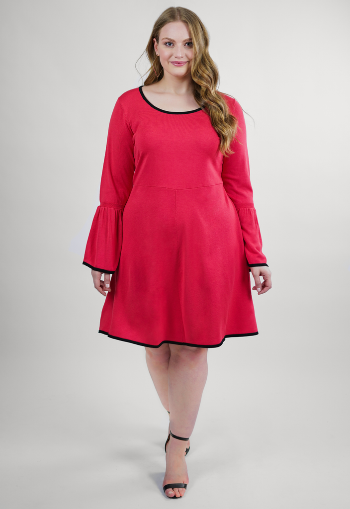 Coral Sweater Dress