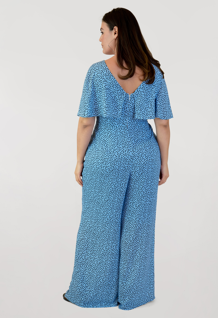 Printed Dot Jumpsuit
