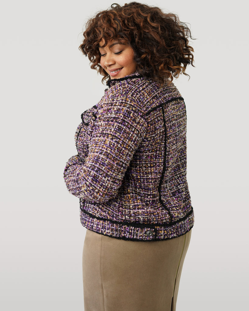 Purple Tweed Jacket - **Additional 50% off with discount code Winter50**
