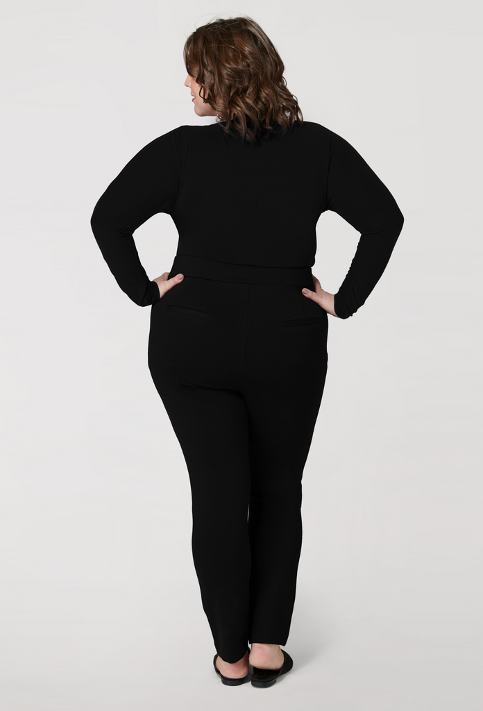 The Black Compression Slim Pant