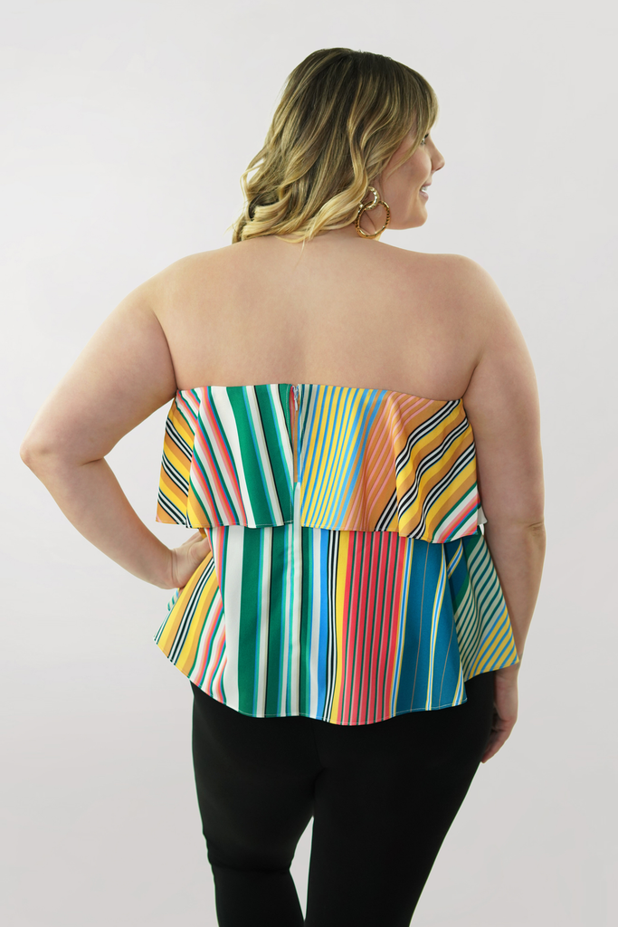 The Striped Flounce Top