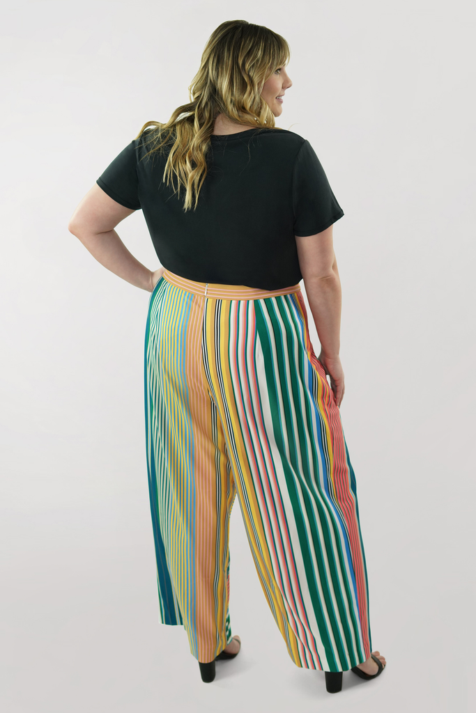 The Striped Wrap Pant