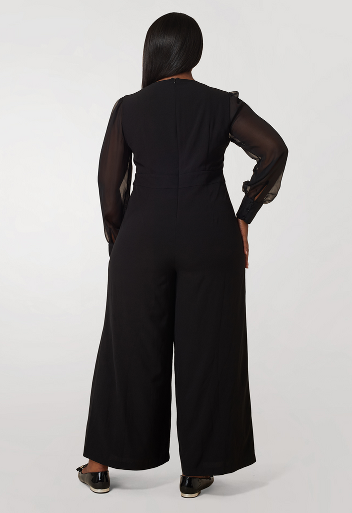 Jumpsuit with Chiffon Sleeves - **Additional 30% off with discount code Winter30**
