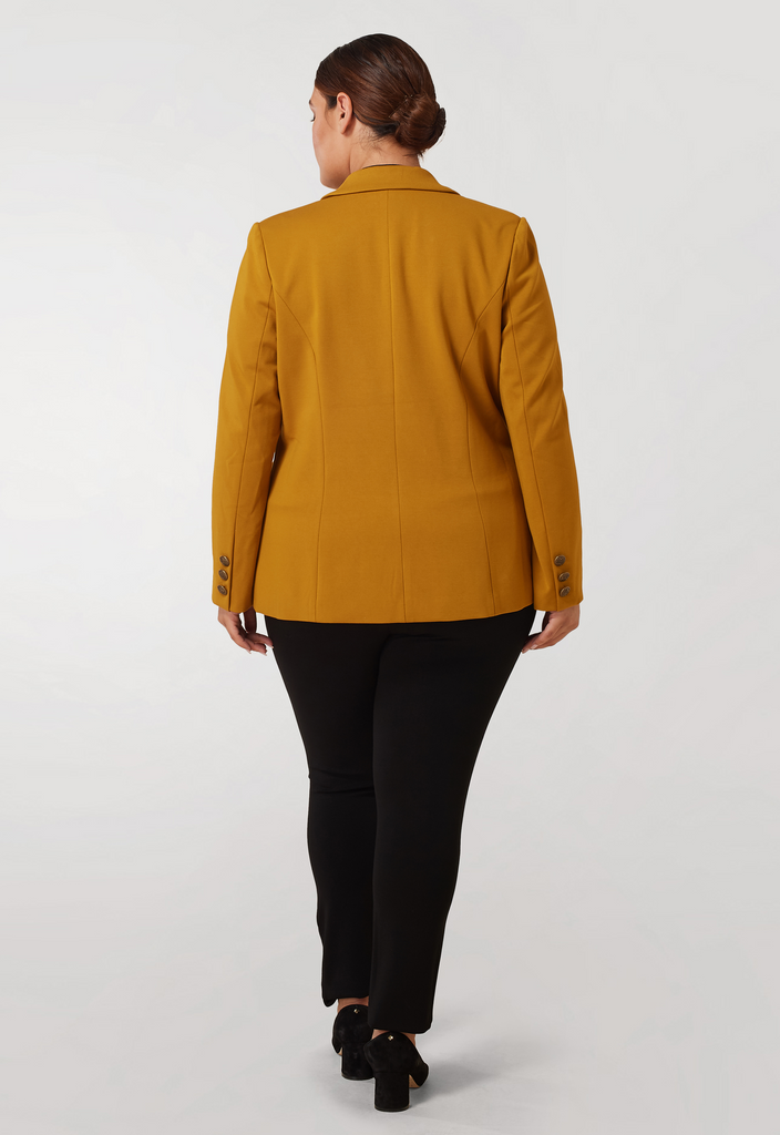 The Mustard Compression Blazer
