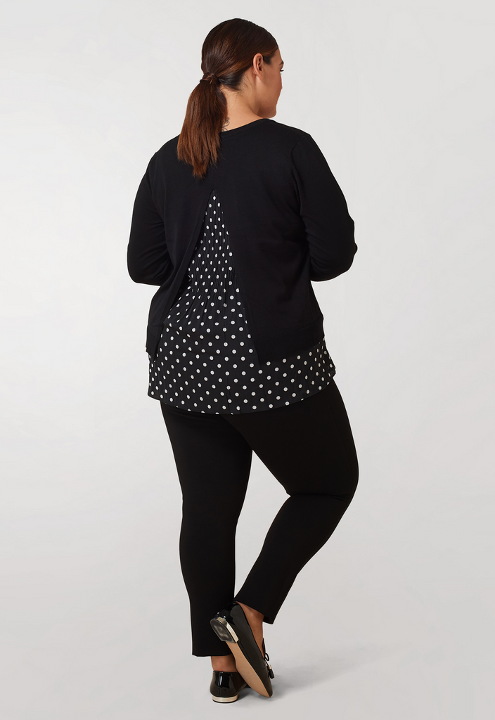 Polka-Dot Twofer Sweater - **Additional 20% off with discount code Winter20**