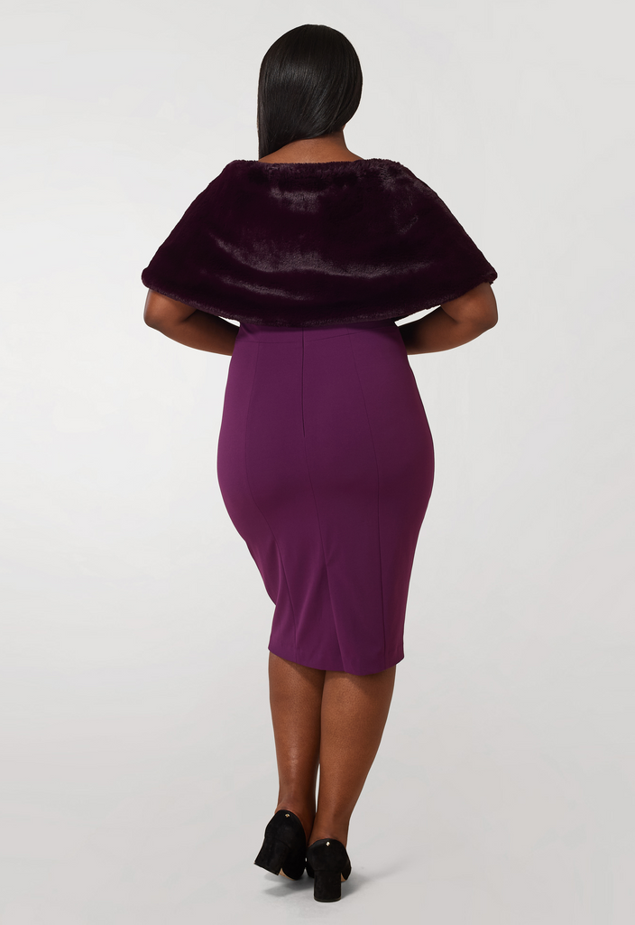 Purple Faux Fur Shrug - **Additional 50% off with discount code Winter50**