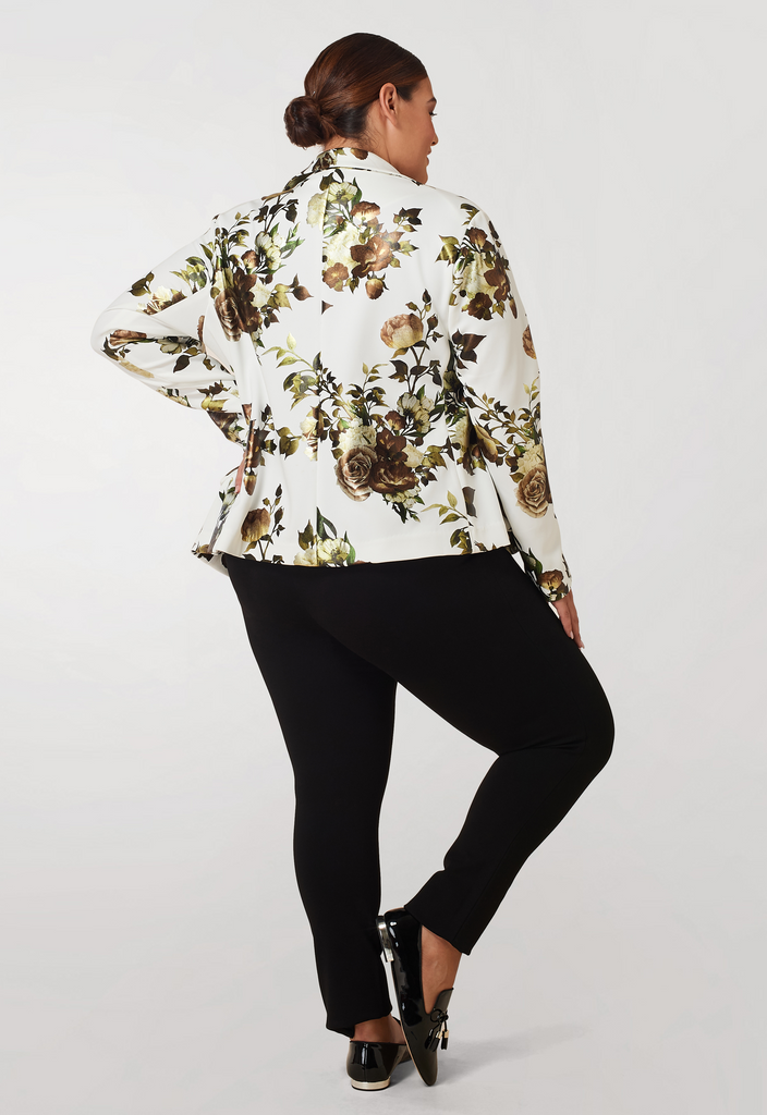 Gwen Print Scuba Foil Print Blazer - **Additional 30% off with discount code Winter30**