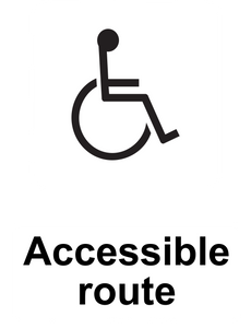Disabled Friendly Route Sign