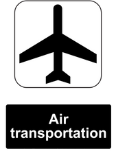 Load image into Gallery viewer, Air Transportation Public Information Sign