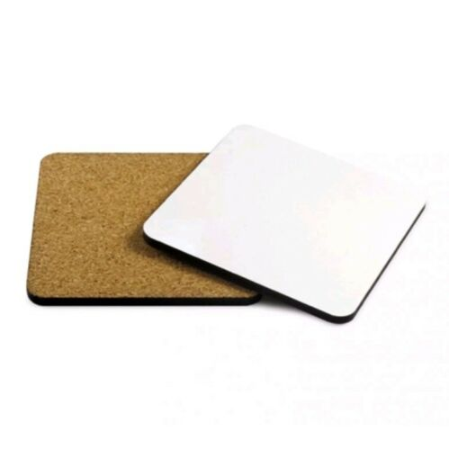 Coaster - MDF - Square - 9.5cm - Cork Base