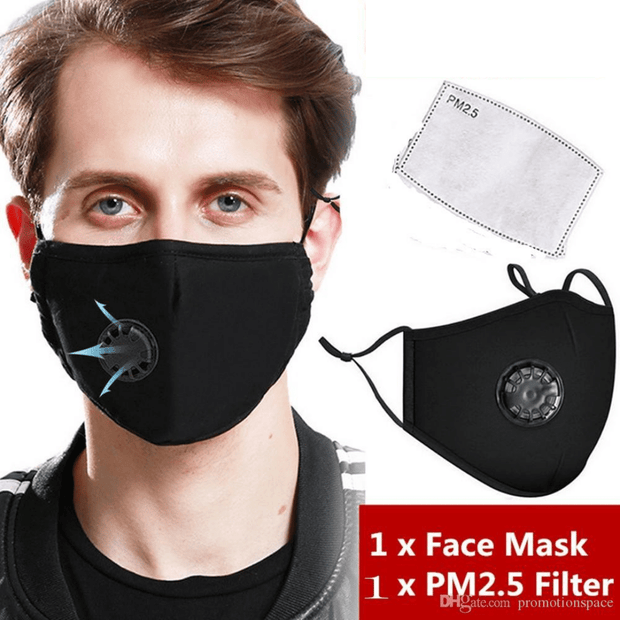 Breathable, Vented and Filtered Cotton Face Masks
